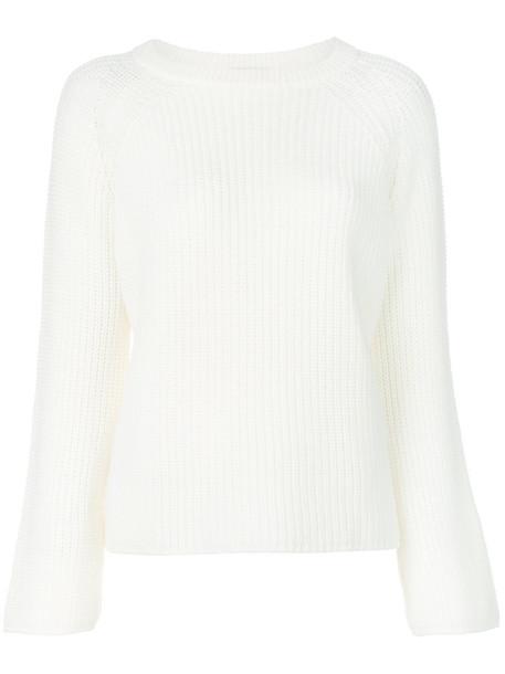 jumper women white wool knit sweater