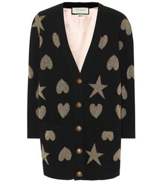 Gucci Wool-blend cardigan in black