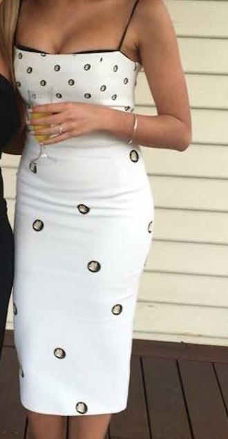 dress bodycon dress bodycon polka dots butterfly white dress white