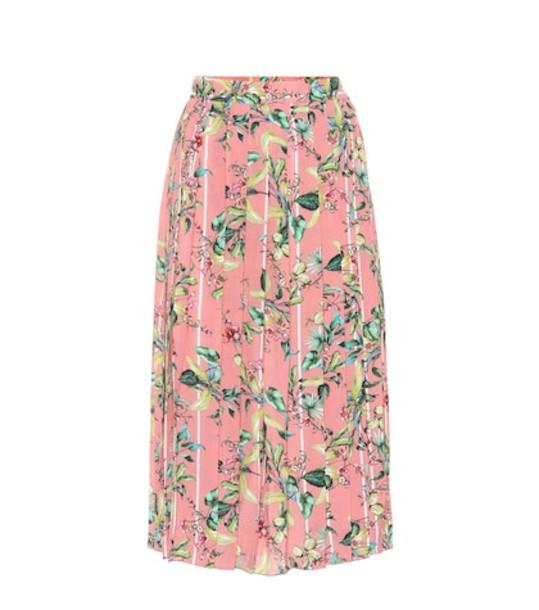 Vetements Printed midi skirt in pink