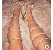 shoes,gold,heels,high heels,knee high,sparkle,prom,silver,open toes,prom shoes,elegant,extravagant