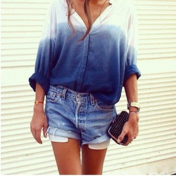 shirt ombre long sleeves button up ombre shirt sweater