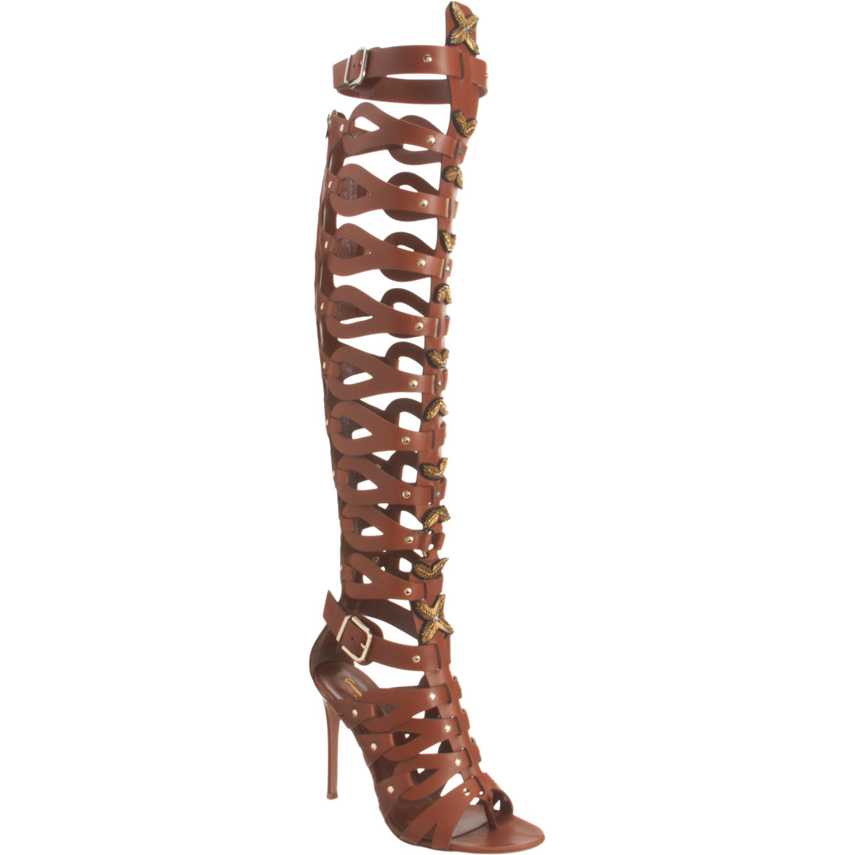Cheap Knee High Gladiator Heels - Qu Heel