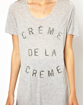 Zoe Karssen | Zoe Karssen Creme De La Creme Oversized T-Shirt at ASOS