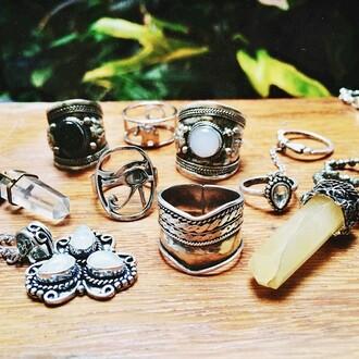 boho ring le happy gemstone