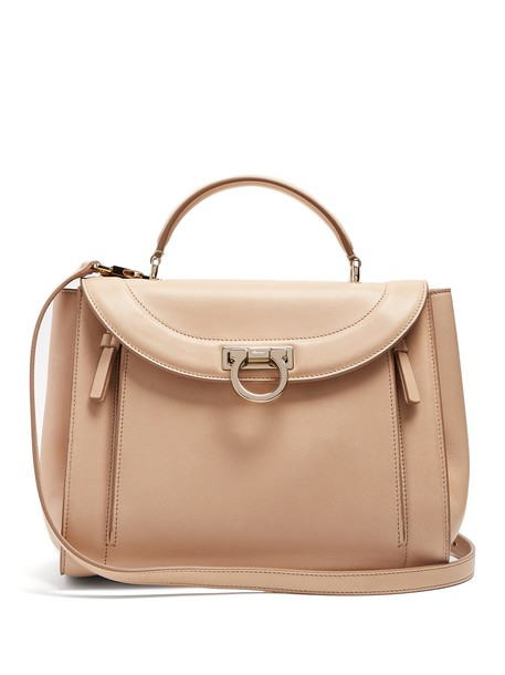 Salvatore Ferragamo rainbow bag leather bag leather beige