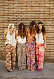 pants,palazzo pants,pattern,print,flowy pants,wide-leg pants,boho,summer,floral pants,flowy,floral,baggy pants,dress