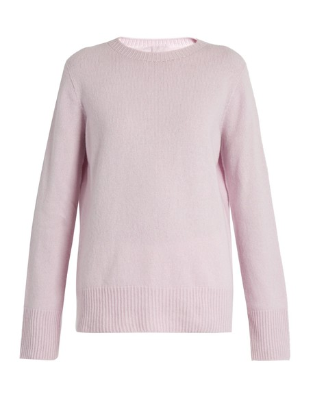 The Row sweater wool light pink light pink