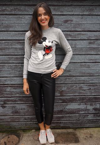 Vintage 80's Grey Mickey Mouse Cotton Mix Jumper | Ada's Attic | ASOS Marketplace