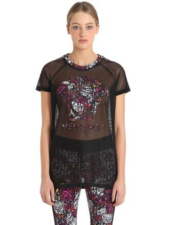 t-shirt shirt mesh black top