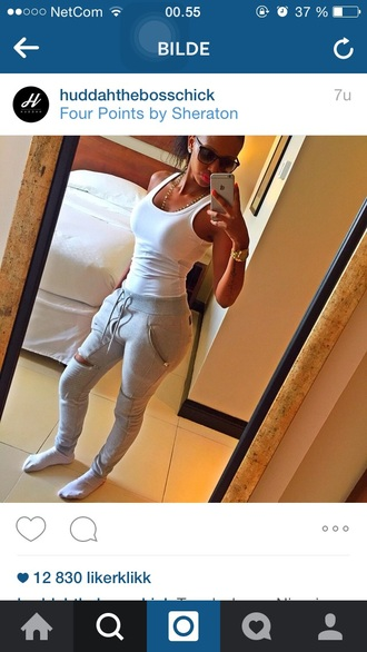 grey zip clothes trendy girl fashionista instagram joggers grey sweatpants sweatpants style fashion tumblr outfit