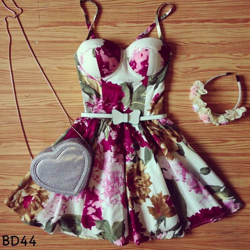 Flirty Floral Bustier Dress |