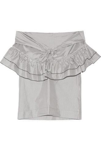 top white cotton silk