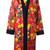 Fausto Puglisi floral print kimono, Women's, Size: 40, Red, Silk/Viscose/Spandex/Elastane