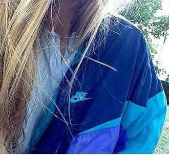 jacket nike blue k-way