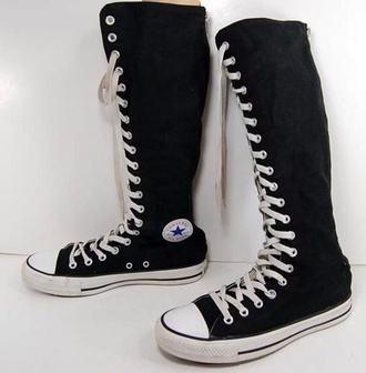 shoes all star converse black high shoes