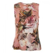 top,pink silk floral top,floral top,dolce and gabbana