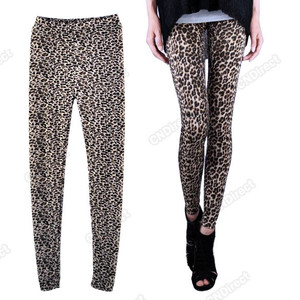 New sexy women leopard leggings jeggings pants trousers jeans xs s m l us seller