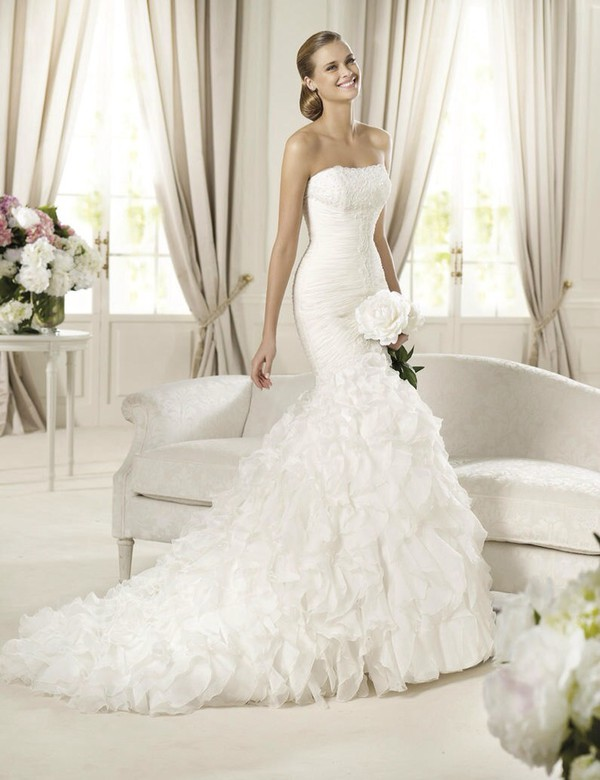 white wedding dress beautiful gown fit and flare dress mermaid wedding dress beautiful dress
