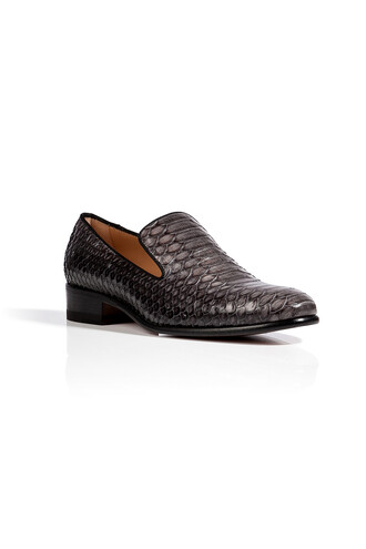 python loafers charcoal grey shoes