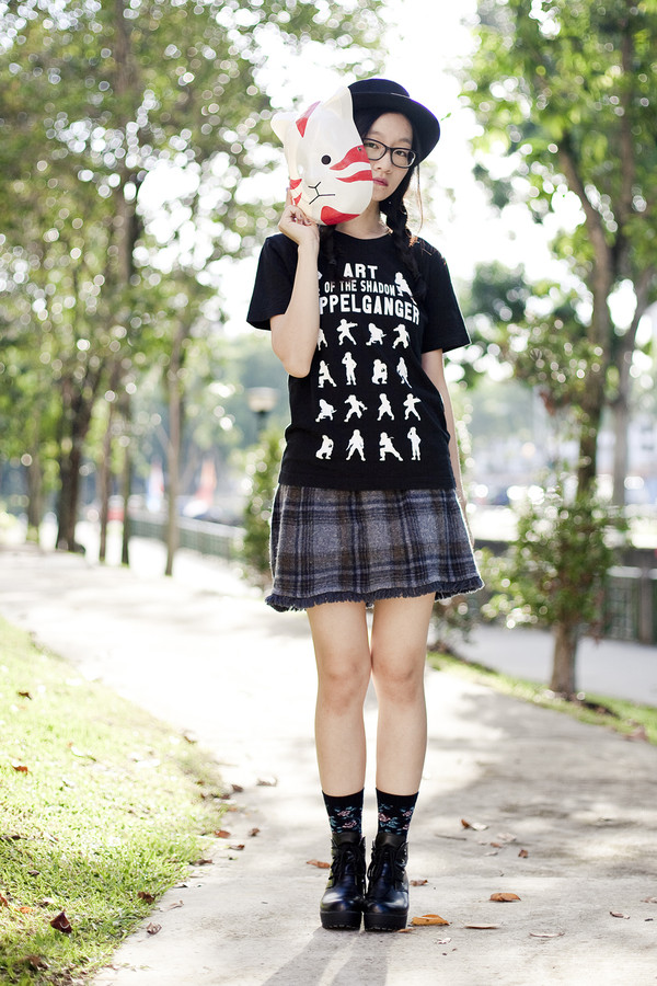 pupuren blogger t-shirt skirt socks shoes