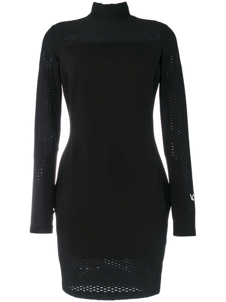 Versace Jeans dress women spandex black
