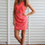 Coral Cocktail Dress - Coral dress with cross back | UsTrendy
