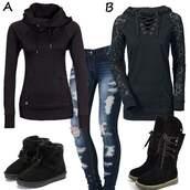 sweater,girly,girl,girly wishlist,black,crop,cropped,cropped hoodie