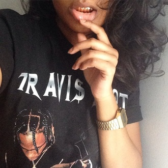 t-shirt black girls killin it style all black everything