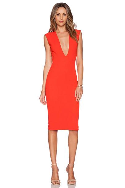 Solace London dress knee length dress red