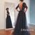 Custom Made Black Lace Tulle Long Prom Dresses, Formal Dresses - 24prom