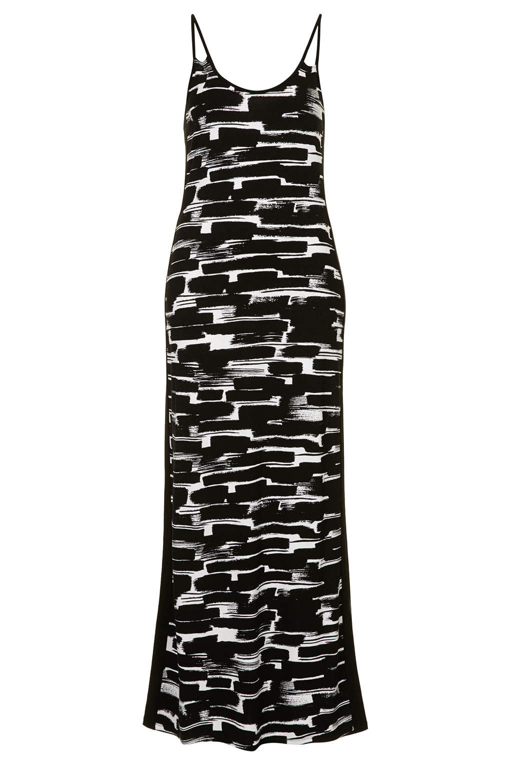 Brushstroke print maxi dress