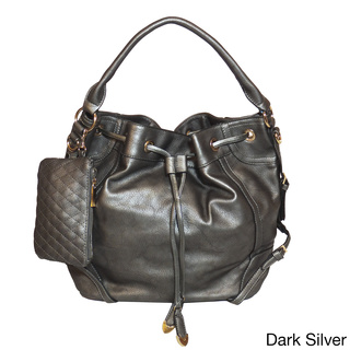 Jessica's Secret Drawstring Hobo Shoulder Bag | Overstock.com Shopping - The Best Deals on Hobo Bags