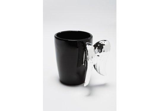 Kare Design Wing Black Kubek Czarny - Kubki i filiżanki - internetowy sklep meblowy sfmeble.pl