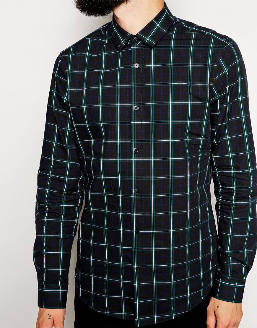 ASOS Smart Shirt In Long Sleeve With Tartan Check at asos.com