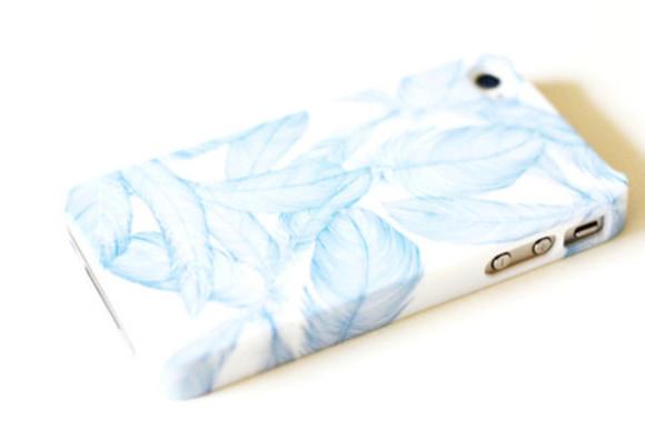 phone case blue white