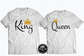 shirt valentines day gift idea anniversary gifts for him king king shirt queen shirt king and queen queen queen b king queen king queen king queen tshirts the king his queen the king and his queen the king his queen shirts king and queen shirts king queen couple sweatshirts king queen prince king queen t shirts king queen 01 crown crowns matching set love tumblr instagram instagram famous instagram models tumblr outfit summer outfits summer spring spring outfits spring summer fashion fashion week fashion week 2017