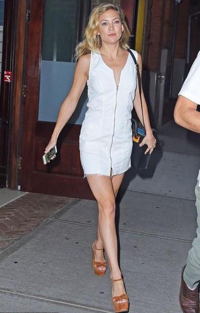 Dress White Dress Mini Dress Summer Dress Kate Hudson