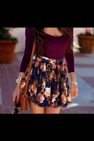 navy dress skirt navy blue navy burgundy gorgeous fall outfits fall outfits outfit leaves bustier model t-shirt