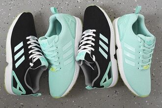 shoes adidas mint adidas zx flux adidas zx flux 2.0 adidas originals mint green shoes black blue white zx flux