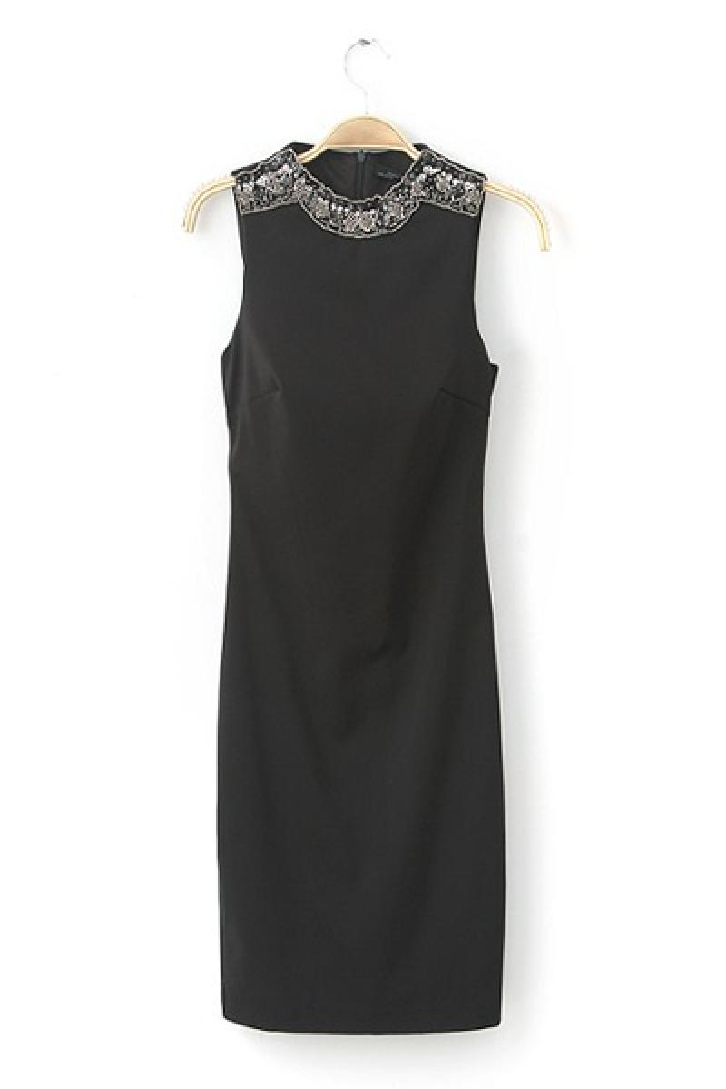 2013 New Neckline Beaded Sleeveless Evening Dress,Cheap in Wendybox.com