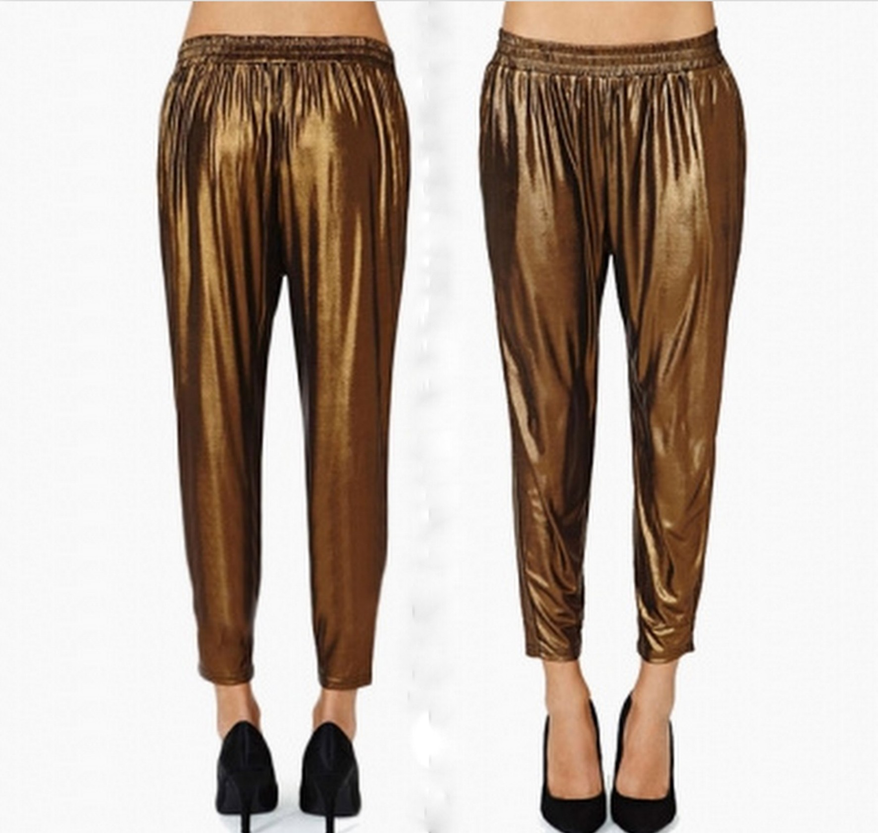 Gold harem pants · luxe muse · online store powered by storenvy