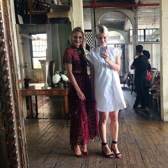 dress olivia palermo burgundy mesh dress mesh see through dress midi dress burgundy dress