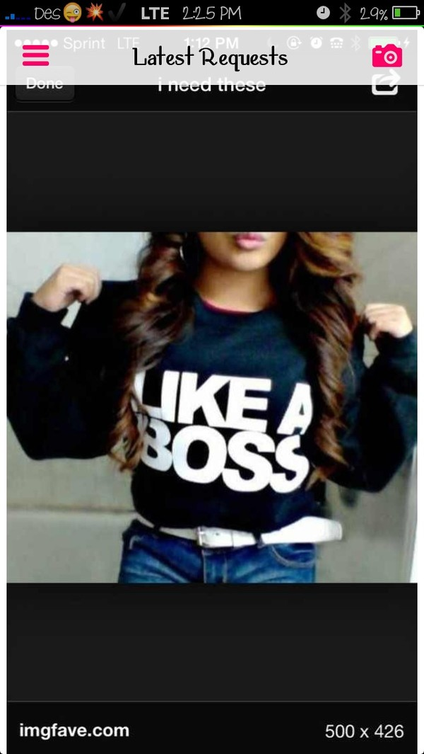 shirt like a boss sweater