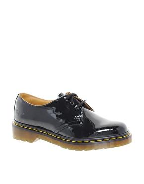 Dr Martens | Dr Martens - 1461 - Chaussures plates classiques - Noir verni chez ASOS