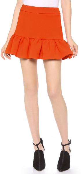 Rebecca minkoff andre skirt in orange (red)