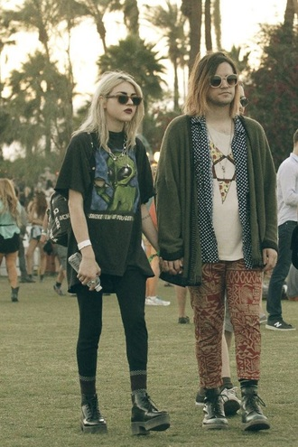 shirt grunge t-shirt black hipster festival