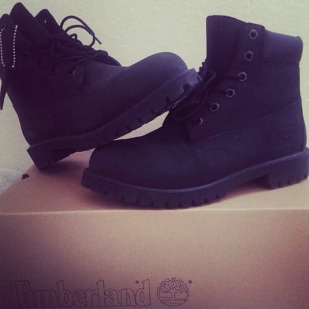 shoes timberlands boots black boots