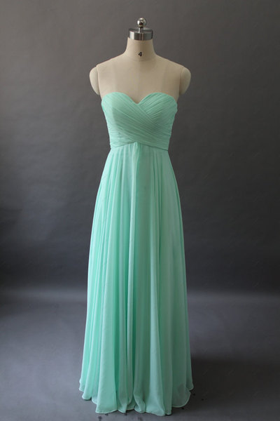 Mint Bridesmaid Dress - Long Bridesmaid Dress / One-shoulder Bridesmaid Dress / Long Prom Dress / Cheap Prom Dress / Evening Dress · DressyProm · Online Store Powered by Storenvy