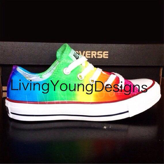 69ea81154b6d6f WEEKEND SALE RAINBOW Converse Custom Tie Dye by ...